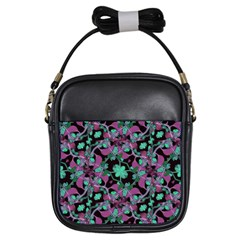 Floral Arabesque Pattern Girl s Sling Bag by dflcprints