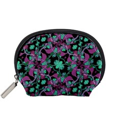 Floral Arabesque Pattern Accessories Pouch (small) by dflcprints