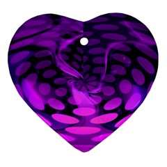 Abstract In Purple Heart Ornament by FunWithFibro