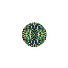 Colorful Geometric Abstract Pattern 1  Mini Button Magnet by dflcprints