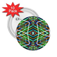 Colorful Geometric Abstract Pattern 2 25  Button (10 Pack) by dflcprints