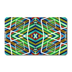 Colorful Geometric Abstract Pattern Magnet (rectangular) by dflcprints