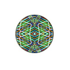 Colorful Geometric Abstract Pattern Golf Ball Marker 10 Pack (for Hat Clip) by dflcprints