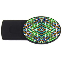Colorful Geometric Abstract Pattern 4gb Usb Flash Drive (oval) by dflcprints