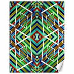 Colorful Geometric Abstract Pattern Canvas 12  X 16  (unframed) by dflcprints