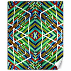 Colorful Geometric Abstract Pattern Canvas 16  X 20  (unframed) by dflcprints
