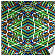 Colorful Geometric Abstract Pattern Canvas 20  X 20  (unframed) by dflcprints