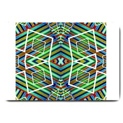 Colorful Geometric Abstract Pattern Large Door Mat by dflcprints