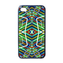 Colorful Geometric Abstract Pattern Apple Iphone 4 Case (black) by dflcprints