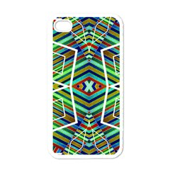 Colorful Geometric Abstract Pattern Apple Iphone 4 Case (white) by dflcprints