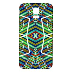 Colorful Geometric Abstract Pattern Samsung Galaxy S5 Back Case (white) by dflcprints