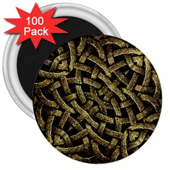 Ancient Arabesque Stone Ornament 3  Button Magnet (100 Pack)