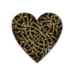 Ancient Arabesque Stone Ornament Magnet (heart) by dflcprints