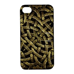 Ancient Arabesque Stone Ornament Apple iPhone 4/4S Hardshell Case with Stand by dflcprints