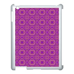 Purple Moroccan Pattern Apple Ipad 3/4 Case (white)