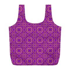 Purple Moroccan Pattern Reusable Bag (L) by SaraThePixelPixie
