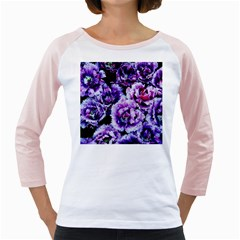 Purple Wildflowers Of Hope Women s Long Cap Sleeve T Shirt (white)  by FunWithFibro
