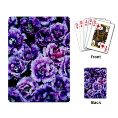 Purple Wildflowers Of Hope Playing Cards Single Design by FunWithFibro