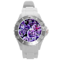 Purple Wildflowers Of Hope Plastic Sport Watch (large) by FunWithFibro