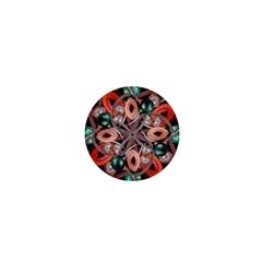 Luxury Ornate Artwork 1  Mini Button by dflcprints