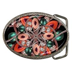 Luxury Ornate Artwork Belt Buckle (oval) by dflcprints