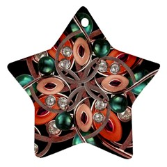 Luxury Ornate Artwork Star Ornament (two Sides) by dflcprints