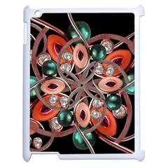 Luxury Ornate Artwork Apple Ipad 2 Case (white) by dflcprints