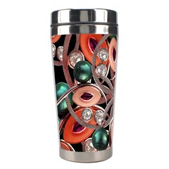 Luxury Ornate Artwork Stainless Steel Travel Tumbler by dflcprints