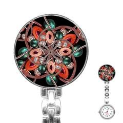 Luxury Ornate Artwork Stainless Steel Nurses Watch