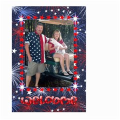 Patriotic Welcome Flag, Large By Joy Johns   Large Garden Flag (two Sides)   Exrtqs4bzep1   Www Artscow Com Front