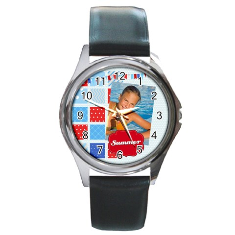 Summer By Summer Time    Round Metal Watch   Hv7wz2yiyzy9   Www Artscow Com Front