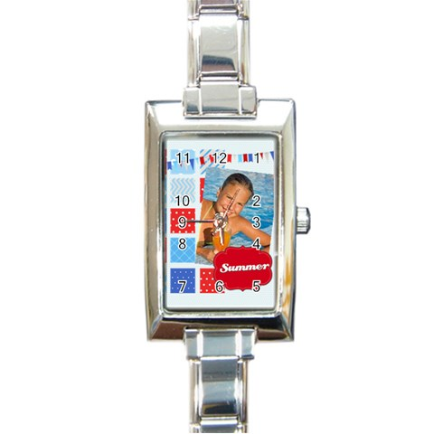 Summer By Summer Time    Rectangle Italian Charm Watch   Ac8c9w4rm8bl   Www Artscow Com Front