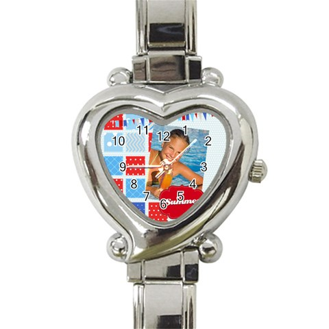 Summer By Summer Time    Heart Italian Charm Watch   6ns35q083bf0   Www Artscow Com Front