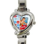 summer - Heart Italian Charm Watch