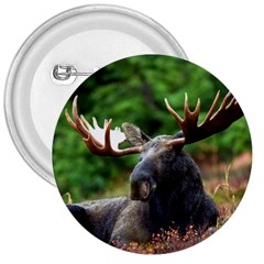 Majestic Moose 3  Button by StuffOrSomething