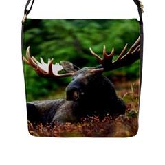 Majestic Moose Flap Closure Messenger Bag (large) by StuffOrSomething