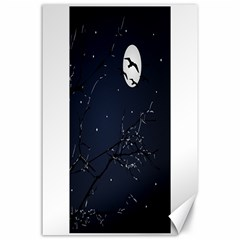 Night Birds And Full Moon Canvas 24  X 36  (unframed) by dflcprints