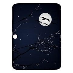 Night Birds And Full Moon Samsung Galaxy Tab 3 (10 1 ) P5200 Hardshell Case  by dflcprints