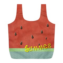 Watermelon  By Arts    Full Print Recycle Bag (l)   9l6zke1c5lgy   Www Artscow Com Back