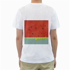 Watermelon By Arts    Men s T Shirt (white) (two Sided)   F3srxn172q9x   Www Artscow Com Back