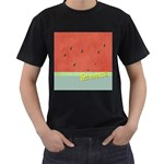 watermelon - Men s T-Shirt (Black) (Two Sided)