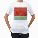 watermelon - Women s T-Shirt (White) (Two Sided)