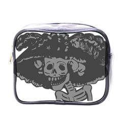 Day Of The Dead Mini Travel Toiletry Bag (One Side) by EndlessVintage