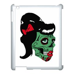 Day Of The Dead Apple iPad 3/4 Case (White) by EndlessVintage