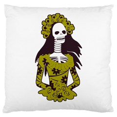 Day Of The Dead Large Cushion Case (Single Sided)  by EndlessVintage