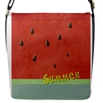 WATERMELON - Flap Closure Messenger Bag (S)