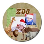 zoo - Collage Round Mousepad