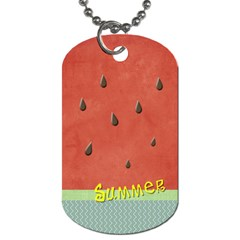 Summer By Arts    Dog Tag (two Sides)   Eschbo8dv1so   Www Artscow Com Front