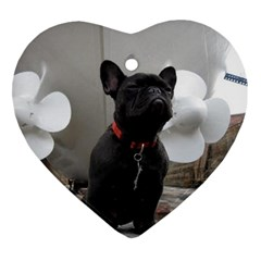 French Bulldog Heart Ornament (two Sides) by StuffOrSomething