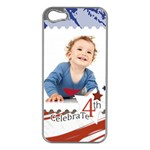 july 4 usa - Apple iPhone 5 Case (Silver)